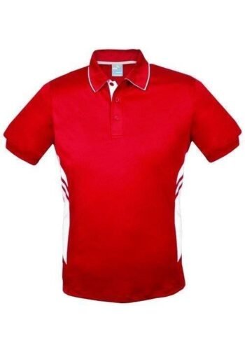 Men's / Kid's Two Tone Poly Polo With Your Team Logo – 19 Colours