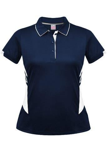 Women's Two Tone Poly Polo With Your Team Logo – 20 Colours
